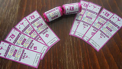 40X PERSONALISED MINI LOVE HEARTS LABELS ***HEN NIGHT/DO/PARTY/WEEKEND***