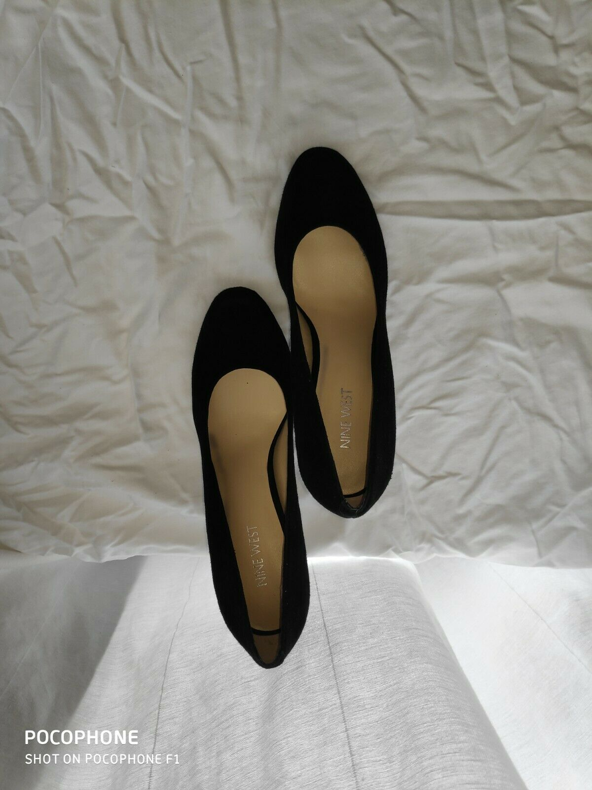 NINE WEST mujer HEELS Talla 8.5 M BRAND NEW NEVER USED Color negro