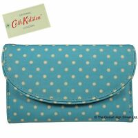 Cath Kidston Curve Wallet Mini Dot (turquoise) 100% Authentic
