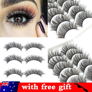e9829bdda33 20 Pairs 3D Mink Handmade Fake Eyelashes Natural Long Wispy Makeup ...