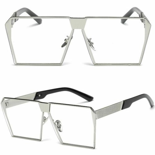 Geek Clear lens Glasses Square styles Fancy dress party costume Vintage
