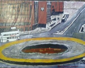 Ole in t'road sheffield Acrylic painting