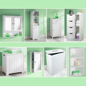 Grey-Bathroom-Cabinet-Storage-Unit-Mirror-Door-Cupboards-Drawers-Home-Furniture