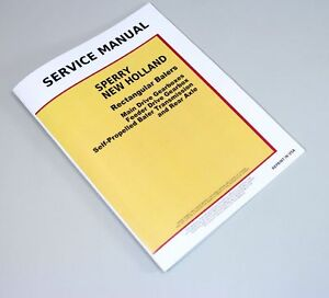 Details about SPERRY NEW HOLLAND SQUARE BALER SERVICE MANUAL 310 311 315  316 320 326 420 425