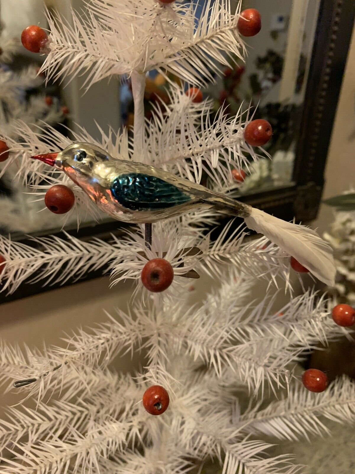Feather Robin Clip On Bird Christmas Tree Decoration 4 5cm For Sale Online Ebay