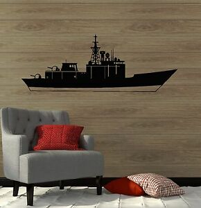 Vinyl Wall Decal Plane Launch Platform Warship Airbase Aircraft Carrier #6