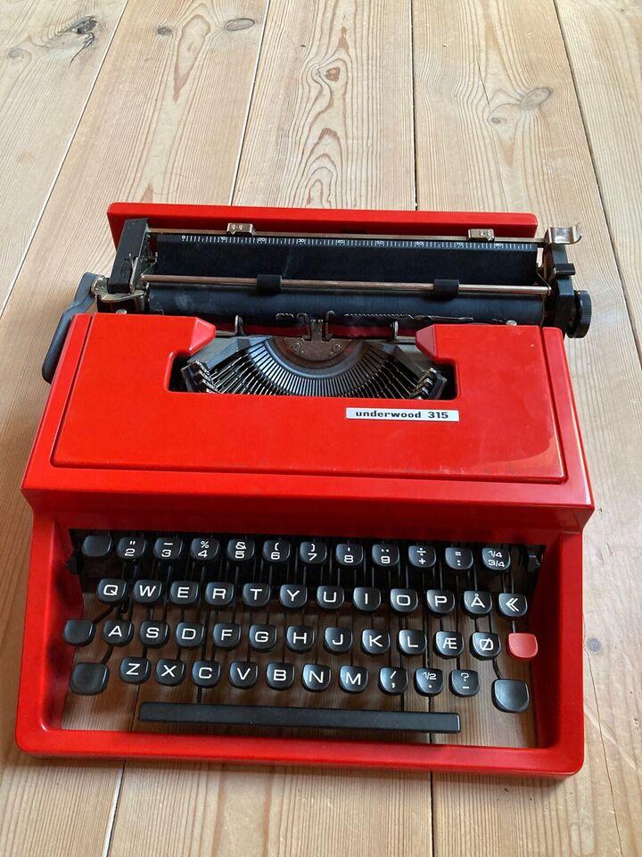 Skrivemaskine, Underwood 315 skrivemaskine