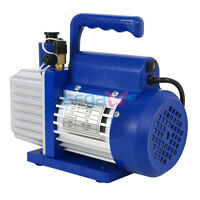 Ac110v Single Stage Vacuum Pump Air Refrigerant Rotary Vane 5cfm 1/3hp Vp145