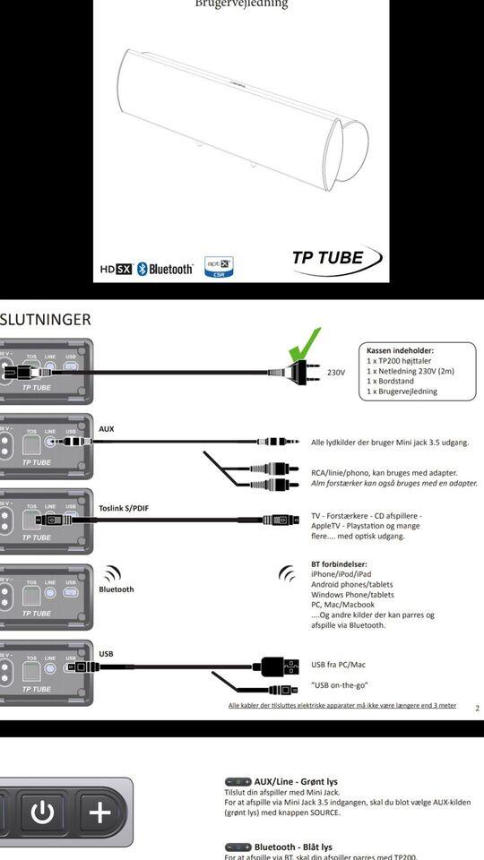 Højttaler, TP Tube, Tp200
