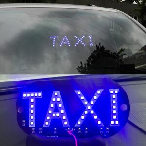 Auto Windschutzscheibe Taxi Zeichen Blau Led Taxi Signallampe Licht