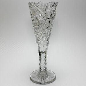 ABP-Cut-Glass-Trumpet-Vase