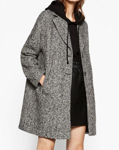 taglia Coat Wolle Giacca lana L Wollmantel Zara di Oversize M Jacke Giacca fZEcaczW1H