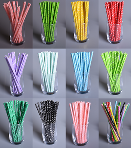 25X Mixed Drinks Paper Straws It/'s A Boy Girl Birthday Party Supplies Decoration