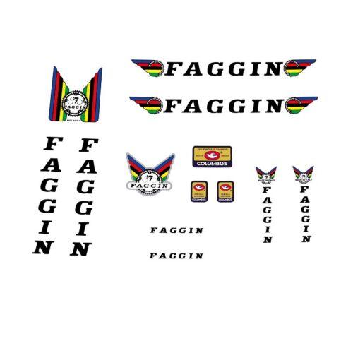 Faggin bicycle decals Sticker Schwarz N.02