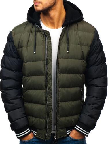 Jacket trapuntato Warm Mens Bolf Bubble Classic Coat Winter con cappuccio 4d4 fqI54w