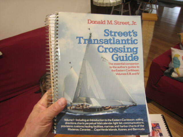 STREET'S TRANSATLANTIC CROSSING GUIDE Donald Jr. Spiral Bound Sailing Vol. 1