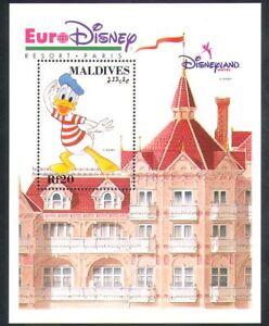Maldive-1992-EURO-DISNEY-Cartoni-Animati-Animazione-DONALD-DUCK-Edificio-1v-M-S-d00258