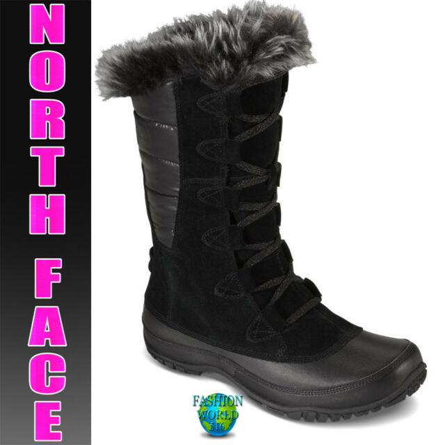 The North Face Nuptse Purna Purna Nuptse Damens Round Toe Suede schwarz Snow Boot 8 ... 49b244