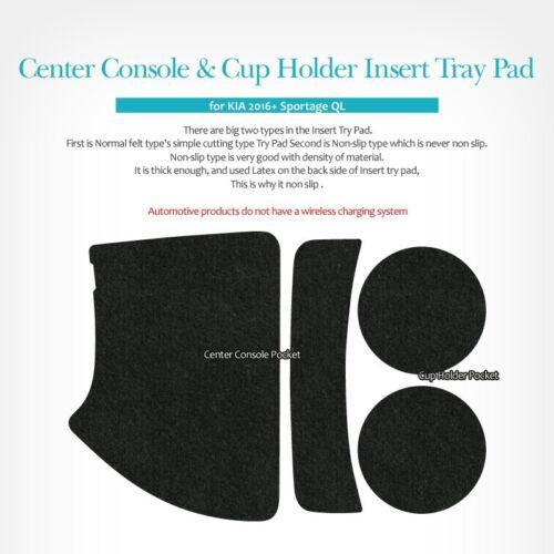Center Console Cup Holder Nonslip Insert Tray Pad 4pcs for KIA 17-18 Sportage QL