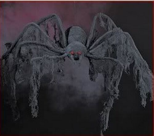 GIANT 4 FT CREEPY CLOTH SPIDER~HALLOWEEN PARTY DECORATION~PROP~DECOR~DROP~HUGE