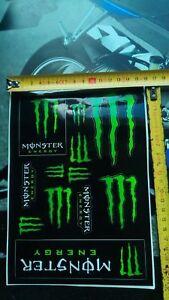 2x satz 24 aufkleber monster energy ktm quad nike car. Black Bedroom Furniture Sets. Home Design Ideas