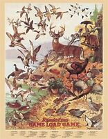 Remington Game Load Deer Duck Hunting Retro Vintage Tin Sign, New, Free Shipping