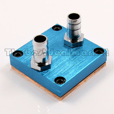 """Water Cooling CPU Block Copper 50X50mm 3/8"""" OD Barb For Intel AMD Xeon US Seller"""