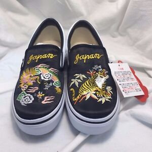 a865adb0690e42 VANS x ROLLICKING Slip-On SKAJUM TIGER   DRAGON US 5 JP 23 RARE ...