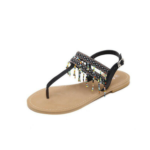 Sandalei eleganti nero bassi infradito colorati nero eleganti leggeri comodi simil pelle  9929 693da4