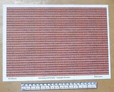 "O gauge (1:48 scale) ""Dark-brown roof shingles""  paper-A4 sheet (297 x 210 mm)"