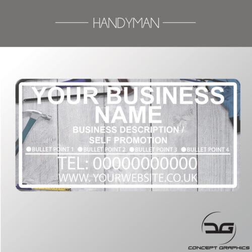 Custom Personalised Full Colour Business Car Van Advertisement Vinyl Decal Sign