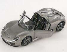 BLITZ VERSAND Porsche 918 Spyder 2012 grau Welly Modell Auto 1:24 NEU & OVP