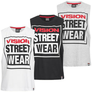 Vision Street Wear Damen Fitness Crew Neck Tank Top Shirt Cl3101 Grey Marl Gr Sporting Goods L