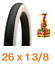 1 x RALEIGH 26 x 1 3//8 Bike Tyre White Wall Cycle Tyre Traditional Retro Style