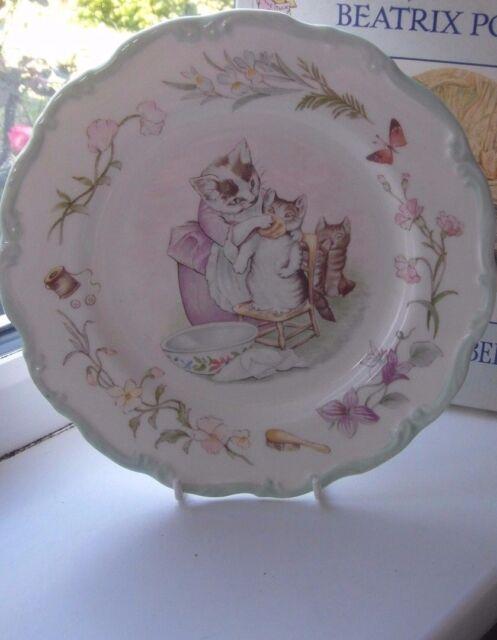 Royal Albert Tom Kitten Dessert Plate 20 cm Teatime Collection 1st Quality Green