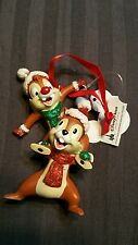 DISNEY PARKS CHRISTMAS CHIP AND DALE ORNAMENT CHIPMUNKS NEW