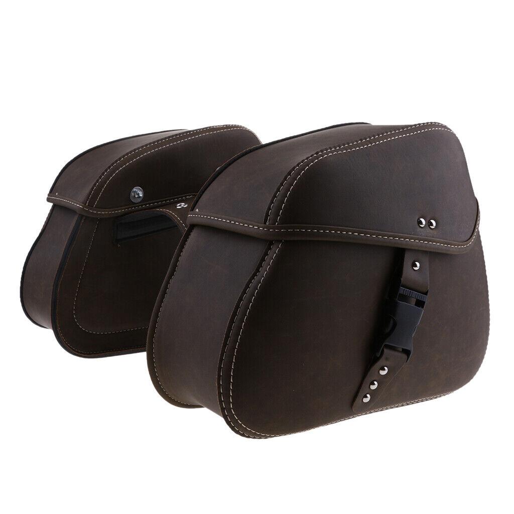 2 x pelle Solo Side Sala Arm Saddle borsa per Sportster XL888883 XL1200