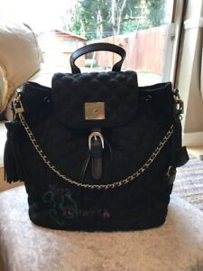 £ Handbag Vo73 Backpak metallo pelle Designer 259 Italian oro in nero z7q1nOWBx7