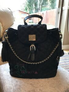 oro in metallo pelle Backpak nero Italian Vo73 £ Designer Handbag 259 wYq07IC