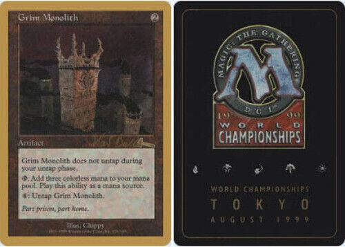 Grim Monolith Kai Budde 1999 ~ Heavily Played World Championship Gold Border