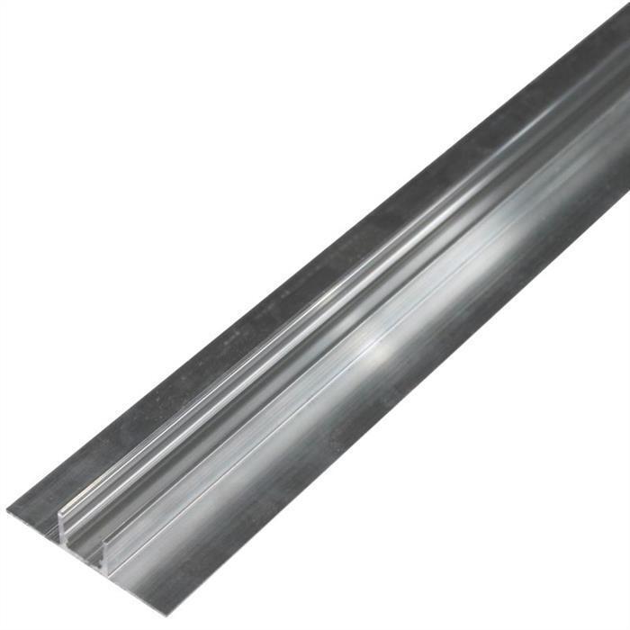 LED Alu Profil Doppelkragen für Fliesen Wand und Boden (Länge  2m)