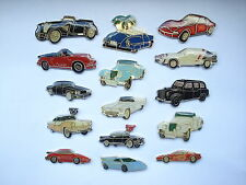 SALE VINTAGE RARE CARS FERRARI PORSCHE JAGUAR TAXI PIN BADGE JOB LOT CAR BUNDLE