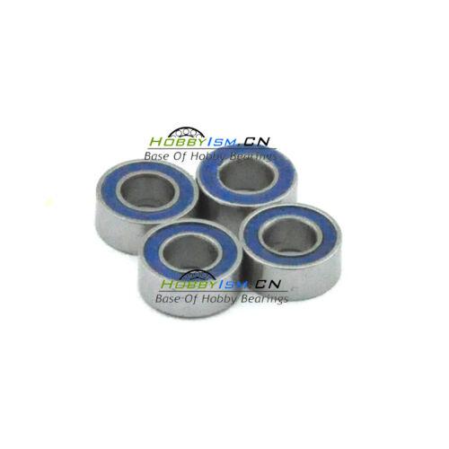 5x12 x4mm Blue Rubber Seals Ball Bearings ABEC-3