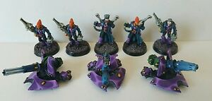 3-x-ELDAR-Anti-Grav-weapons-platforms-with-5-x-Crew-Pro-painted-metal-models-OOP