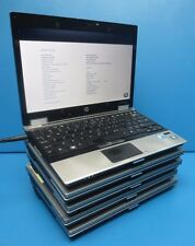 """Lot of 5 HP EliteBook 2540p-12.1"""" Laptop-i5 540M@2.53-TO-2.67GHZ-4GB-250GB HDD"""