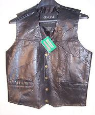 Giovanni Navarre Italian Stone Design Biker Leather Motorcycle Child Girl Vest S