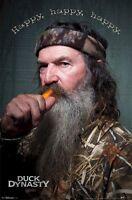 Duck Dynasty Poster Phil Robertson Happy Happy 22x34 Tv Call Caller Commander