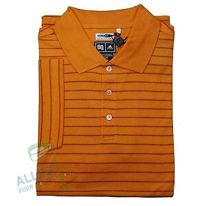 Adidas-ClimaLite-Birdseye-Stripe-Polo-orange-US-M-EU-L-D-48-50-neu-OVP-Rechg
