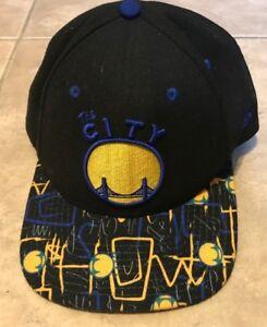 buy online 54333 e4d05 Image is loading Golden-State-Warriors-NBA-Hat-Cap-Black-w-