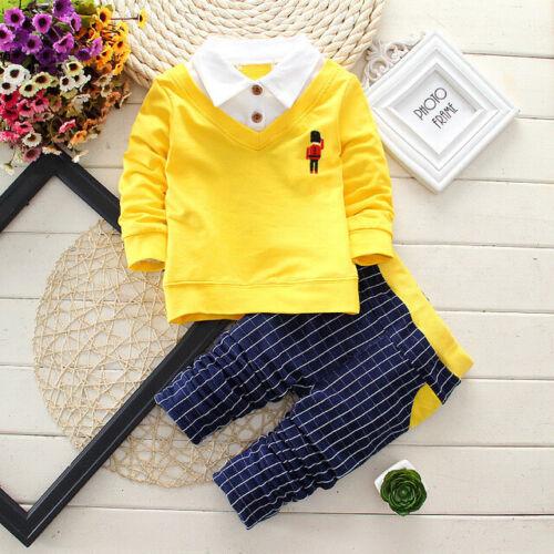Pants Suit Kids Baby Boys Clothes Suits Infant Boy Outfits Sets T shirt